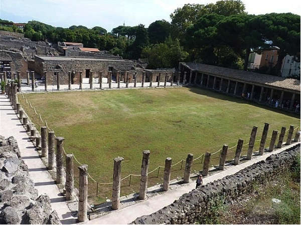 """Remains of a """"gymnasia,"""" an early version of our modern gyms."""